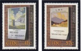 Ireland 2003 MNH Scott #1469-#1470 Set Of 2 Travel Posters By Paul Henry EUROPA - 1949-... Repubblica D'Irlanda