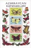 Azerbaïjan 1995 Mih. 195/98 Fauna. Butterflies (M/S) MNH ** - Azerbaïjan
