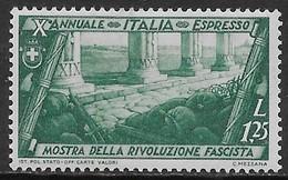 Italia Italy 1932 Regno Decennale Marcia Su Roma Espressi L1,25 Sa N.E17 Nuovo MH * - 1900-44 Vittorio Emanuele III