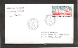 14 - TAAF PO 67 Du 12.4.1979 KERGUELEN - Griffe Linéaire Et Signature Du Chef De Ditrict. - Terres Australes Et Antarctiques Françaises (TAAF)