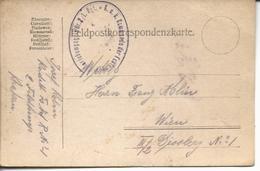 "Feldpostkorrespondenz De Cracovie >> Wien""K.u.k.kommando Des FestungsArtilleriekompagnie Nr.2/1 Rgt"" - Covers & Documents"