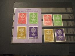 GHANA - 1962 MALARIA/SERPENTE 4 VALORI + BF - NUOVI(++) - Ghana (1957-...)