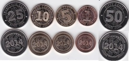Zimbabwe - Set 5 Coins 1 + 5 + 10 + 25 + 50 Cents Bond Coin 2014 UNC - Lemberg-Zp - Zimbabwe