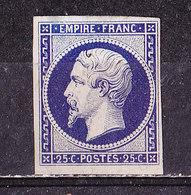 Francia 1853-N° 15-25 C. Nuovo Senza Gomma - 1853-1860 Napoléon III