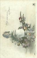 Enfants ,brouette De Fleurs              S959 - Scènes & Paysages