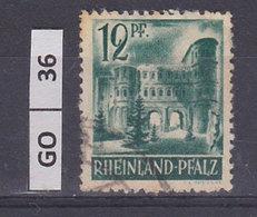 GERMANIA   RENANIA PALATINATO1947Soggetti Diversi, 12 Pf, Usato - Zone Française
