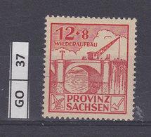 GERMANIA   SASSONIA1946Costruzioni, 12+8, Nuovo - Zone Française