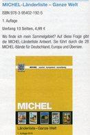 MICHEL Länder-Liste 2017 Neu 5€ Länderübersicht A-Z Katalog Der Ganzen Welt Document Stamps Catalogues Of The World - Briefmarkenkataloge