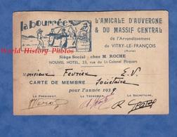 Carte Ancienne - VITRY Le FRANCOIS - L' Amicale D' Auvergne Et Du Massif Central - Siége Social Chez M. Roche - 1939 - Vitry-le-François