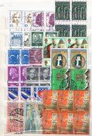 BLOCKS : Q016/17/18/19/20  -  50/60 Used Blocks Of 4/6 Pieces : All World - Collezioni (senza Album)