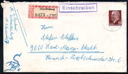 3450 - Beleg - Quedlinburg - Einschreiben Ca. 1970 Nach Karl Marx Stadt - DDR