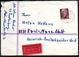 3479 - Beleg - Quedlinburg - Eilsendung 1970 Nach Karl Marx Stadt Bahnpost Bahnpoststempel - DDR