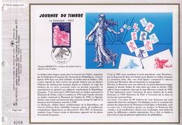 FEUILLET CEF TIRAGE LIMITE, LA SEMEUSE 1903, JOURNEE DU TIMBRE, 1996 - Journée Du Timbre