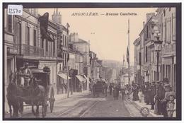ANGOULÊME - AVENUE GAMBETTA - ATTELAGE - TB - Angouleme