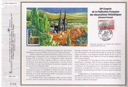 FEUILLET CEF TIRAGE LIMITE, 69 EME CONGRES FEDERATION ASSOCIATIONS PHILATELIQUES FRANÇAISES A CLERMONT-FERRAND, 1996 - Umweltschutz Und Klima