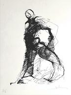 """Très Belle LITHOGRAPHIE De Bernard JOBIN """"Le TORERO"""" Numérotée Et Signée Au Crayon N°2/7 Sur Velin Format 55X38cm - Lithographies"""