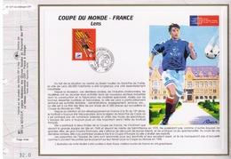 FEUILLET CEF TIRAGE LIMITE, COUPE DU MONDE DE FOOTBALL EN FRANCE A LENS, 1996 - 1998 – France
