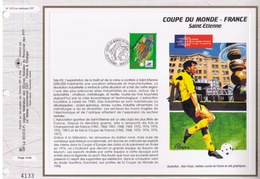 FEUILLET CEF TIRAGE LIMITE, COUPE DU MONDE DE FOOTBALL EN FRANCE A ST ETIENNE, 1996 - 1998 – France