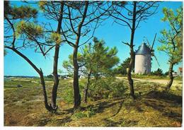CPA 85 Vendée - Île De Noirmoutier Moulin Sur La Plage à La Guérinière 1987 - Ile De Noirmoutier