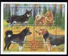 FINLANDIA 1989 FOGLIETTO CANI - Finlandia