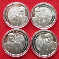 Belarus 4 X 1 Rub.  2010 PROOF WW2 Fronts - Belarus