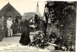 77 MEAUX - Anniversaire De La Bataille De La Marne - Le Cardinal De Paris Au Monument Des Quatre Routes - Très Animée - Meaux