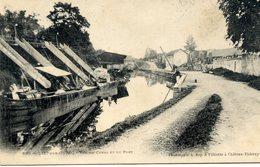 77 LIZY-SUR-OURCQ - Vue Du Canal Et Du Port - (péniche En Chargement) - Carte Précurseur - Lizy Sur Ourcq