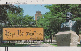 Télécarte Ancienne Japon / NTT 430-018 - BOYS BE AMBITIOUS  - JAPAN Front Bar Phonecard / TBE - Balken TK - Japan