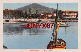 CARQUEIRANNE (Var) Le Port Avec Voilier  2 Scans - Carqueiranne