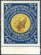 League Of Nations Société Des Nations 1937 NANSEN Passport Revenue Russian Refugees Fiscal Tax France Switzerland Suisse - Réfugiés