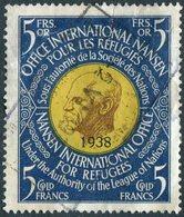 League Of Nations Société Des Nations 1938 NANSEN Passport Revenue Russian Refugees Fiscal Tax France Switzerland Suisse - Réfugiés