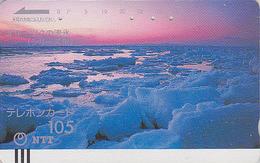 Télécarte Ancienne JAPON / NTT 430-027 - ARCTIQUE / OKHOTSK - ARCTIC JAPAN Front Bar Phonecard / TBE - Balken TK - Paysages