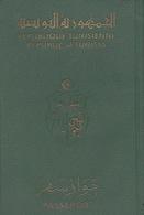 TUNIS TUNISIA REPUBLIC 1977 PASSPORT YOUNG GIRL CONSULAR REVENUE FISCAL STAMPS - Documents Historiques