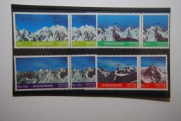 PAKISTAN SG 0562-69 MOUNTAIN PEAKS IN SETENENTS - Pakistán