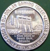 $1 Casino Token. Riverside, Laughlin, NV. 1966 NEW. D09. - Casino
