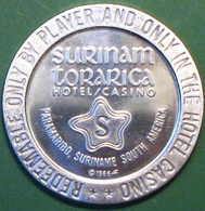 $1 Casino Token. Surinam Torarica, Paramaribo, Surinam, South America. 1966 NEW. D09. - Casino