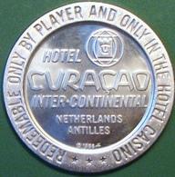 $1 Casino Token. Hotel Curacao, Netherland Antilles. 1966 NEW. D09. - Casino