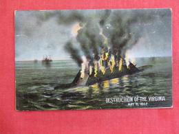 Civil War  Destruction Of The Virginia  May 11  1862 .  Ref 2897 - Warships