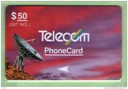 New Zealand - 1990 Standard Satellites $50 - NZ-G-14 - Very Fine Used - Neuseeland