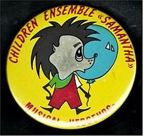 Button  -  Children Ensemble Samantha  -  Musical Hedgehog  -  Ca. 65 Mm Groß - Pin's & Anstecknadeln