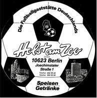 Speisen- Getränke-Karte  -  Holst Am Zoo / Berlin  -  Fussballgaststätte - Andere Sammlungen