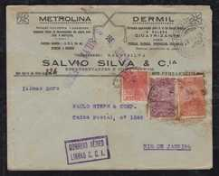 Brazil Brasil 1930 AEROPOSTALE CGA Airmail Cover RECIFE To RIO - Brasile