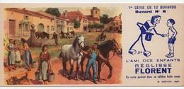 Buvard Réglisse Florent Sirven Jep Village Chevaux Fontaine Vache N°8 - Cake & Candy