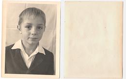 Original Photo 12x9cm Child Boy Freckles Portrait 1950s USSR Russia (3755) - Anonymous Persons