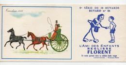 Buvard Réglisse Florent Sirven Jep Tandem 1850 Chevaux Charrette N°86 - Cake & Candy
