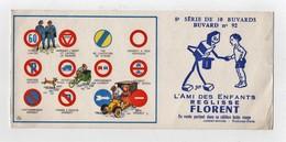 Buvard Réglisse Florent Sirven Jep Code De La Route Panneaux Voiture Automobile Vélo Triporteur Gendarmes N°92 - Cake & Candy