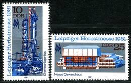 DDR - Mi 2634 / 2635 - ** Postfrisch (B) - 10-25Pf    Leipziger Herbstmesse 81 - [6] Repubblica Democratica