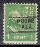 USA Precancel Vorausentwertung Preo, Locals Oklahoma, Moore 719 - Préoblitérés