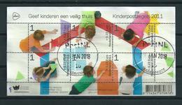 2011 Netherlands Complete M/Sheet Child Welfare Used/gebruikt/oblitere - Blokken