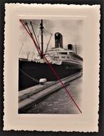 """76 LE HAVRE -- Paquebot """"Liberté"""" à Quai _ Port _ Compagnie Générale Transatlantique _ French Line _ Photo Originale - Bateaux"""